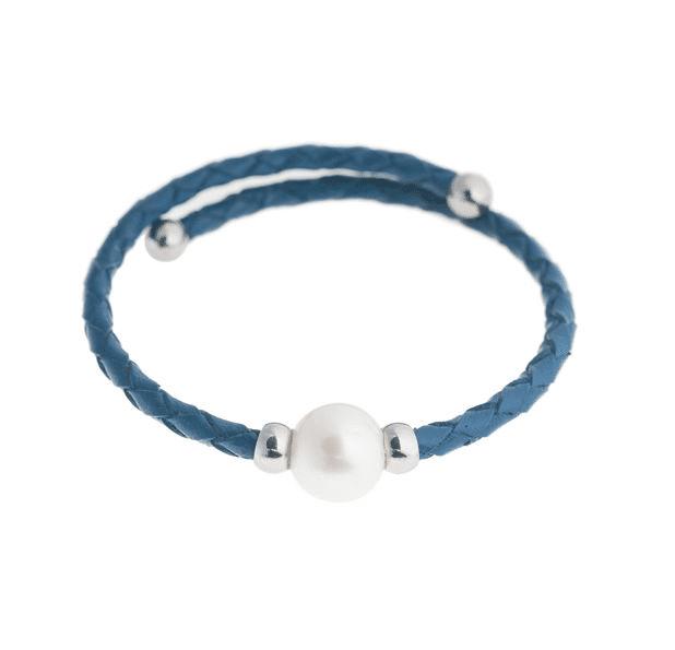 Navy Bahia Pearl Bracelet