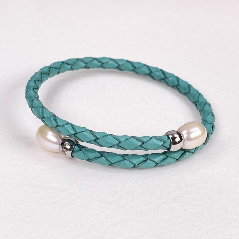 Turquoise Rita Pearl Bracelet