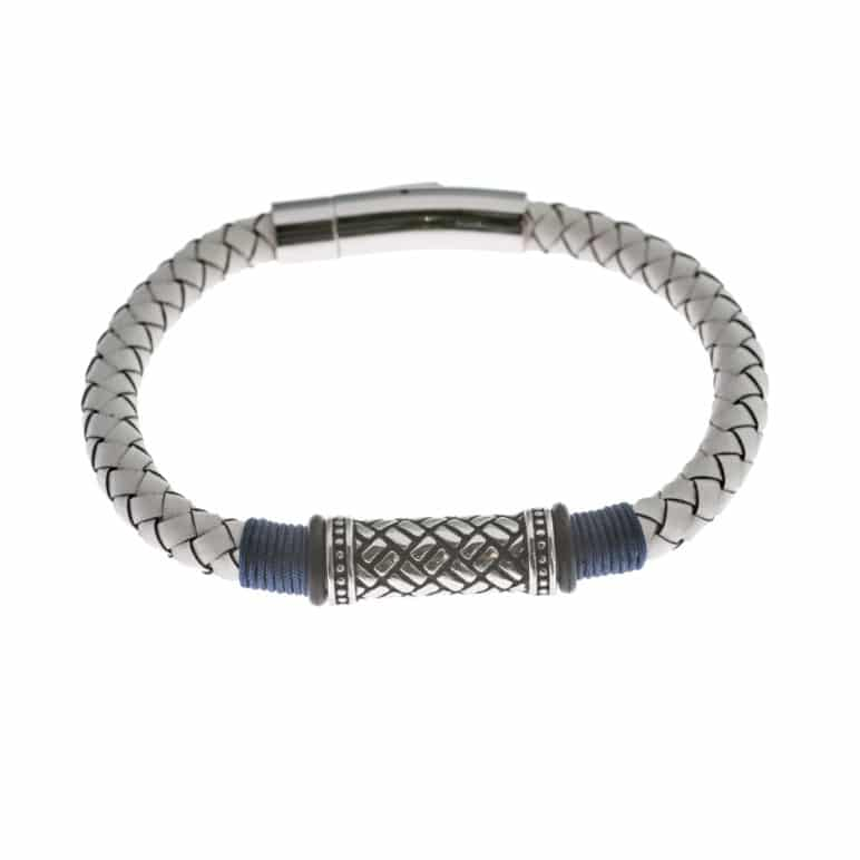 White Genuine Leather Bracelet