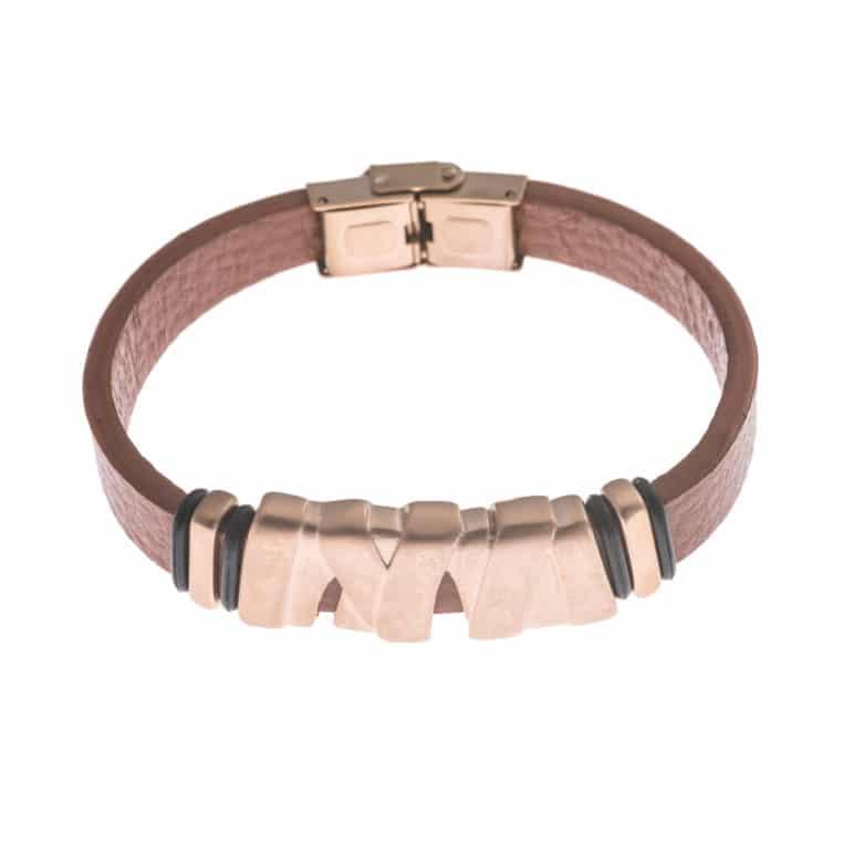Tan Genuine Leather Wristband