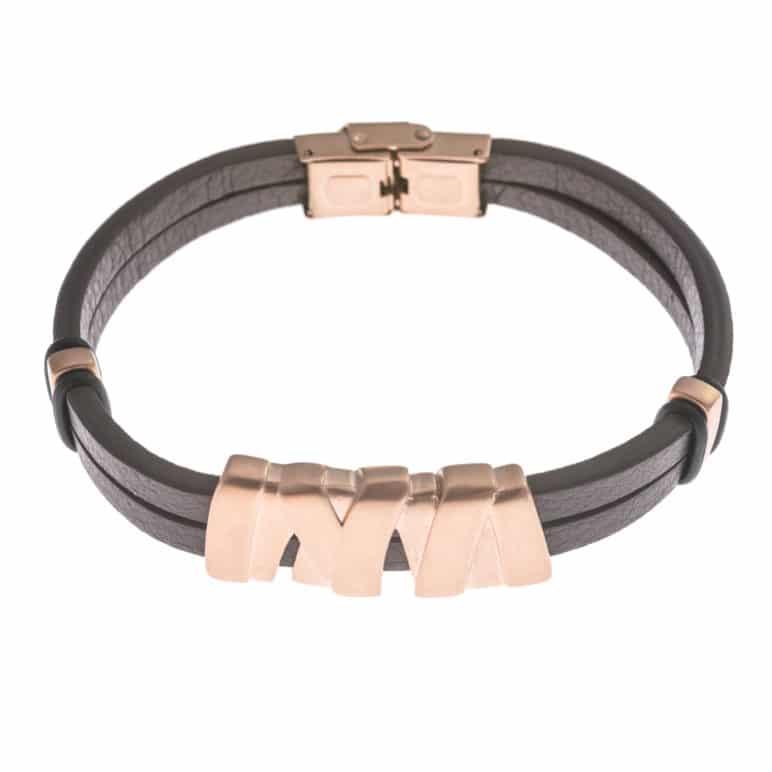 Brown Genuine Leather Wristband