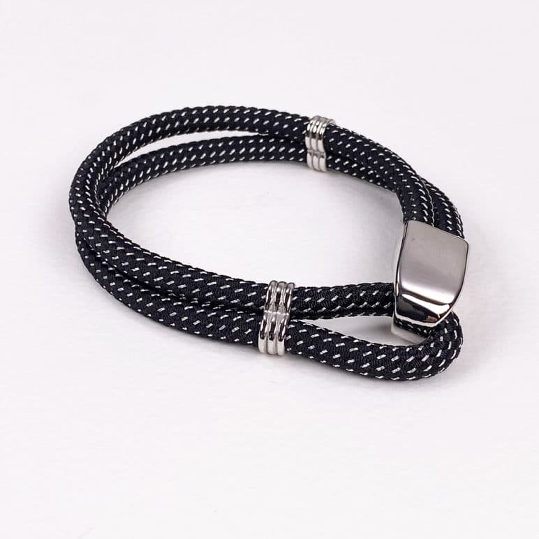 Black Looped Cord Bracelet