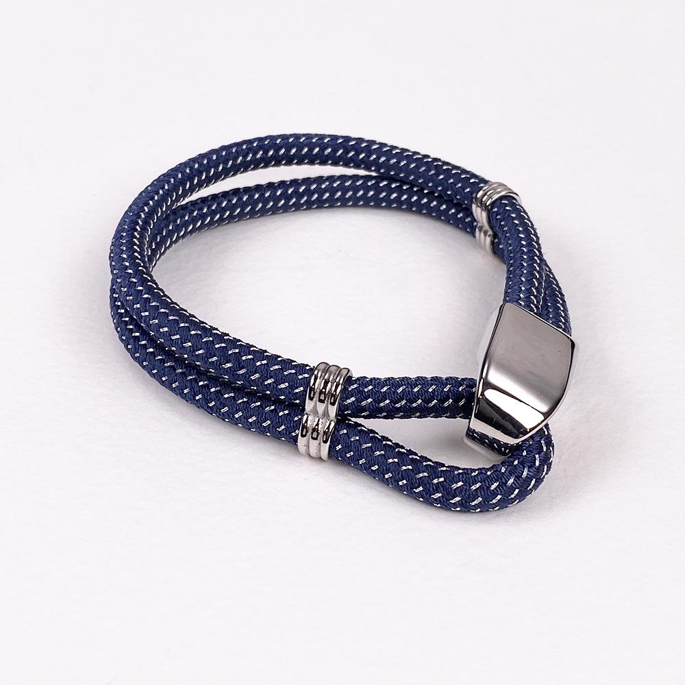Navy Looped Cord Bracelet