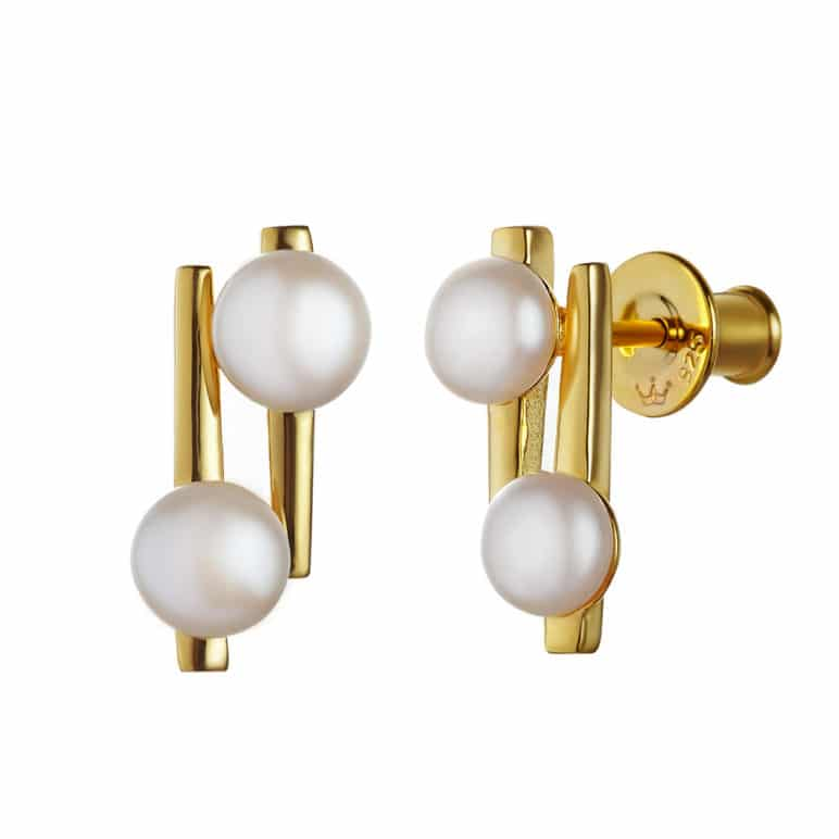 Cala Two Pearl Earrings
