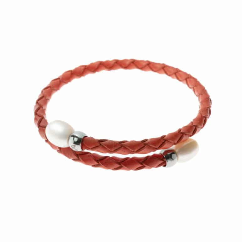 Coral Rita Pearl Bracelet