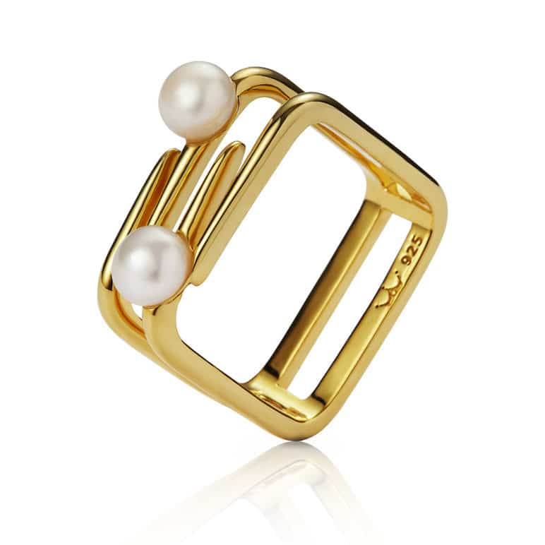 Cala Two Pearl Ring