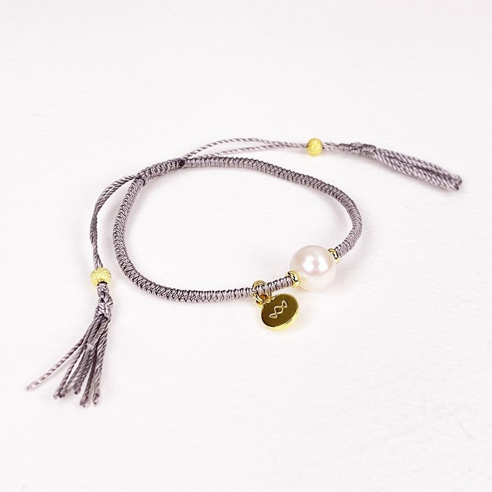 Grey Joy Pearl Bracelet
