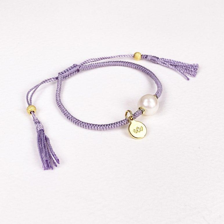 Mauve Joy Pearl Bracelet