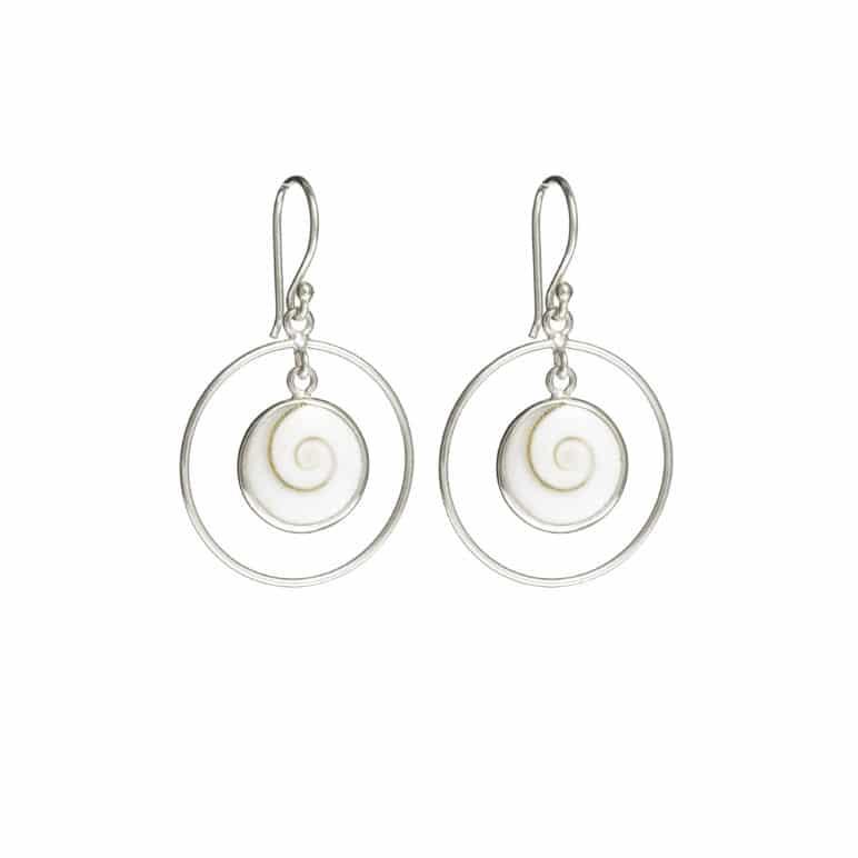 White Shell Earrings