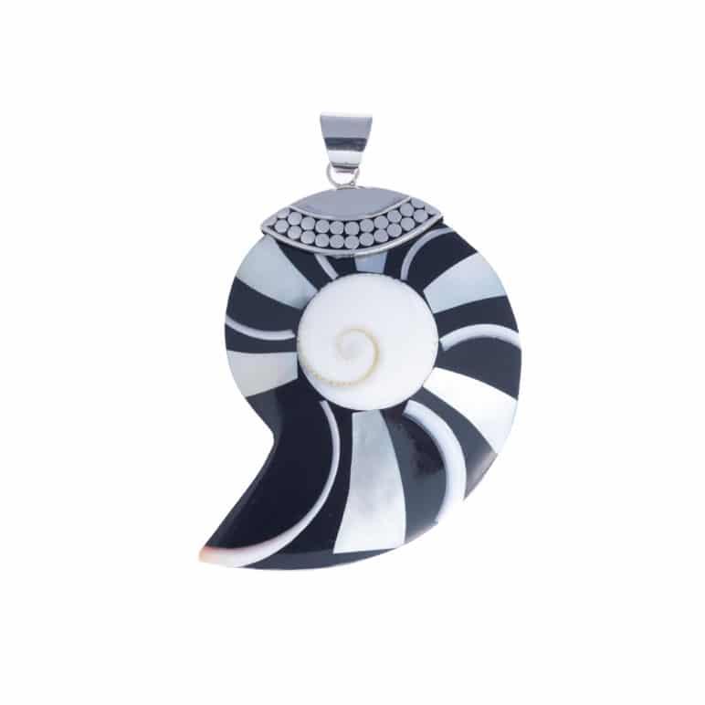 Bali Asymmetric Shell Pendant