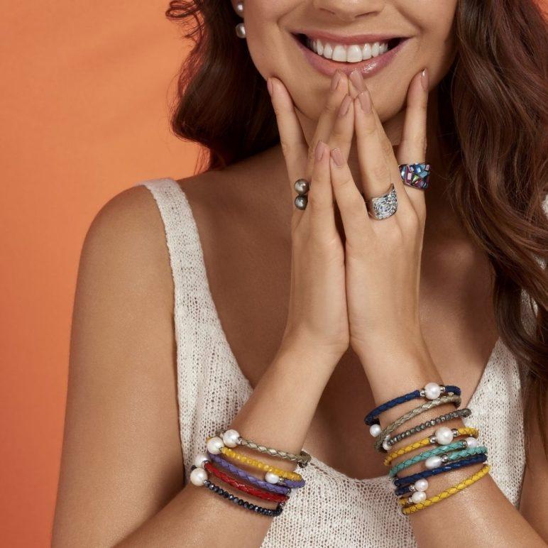 Navy Rita Pearl Bracelet