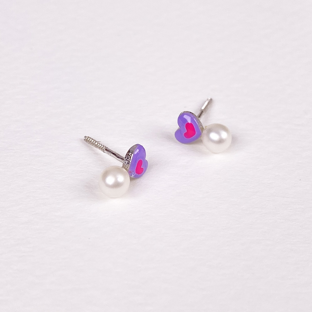 Children's Silver Heart Earrings