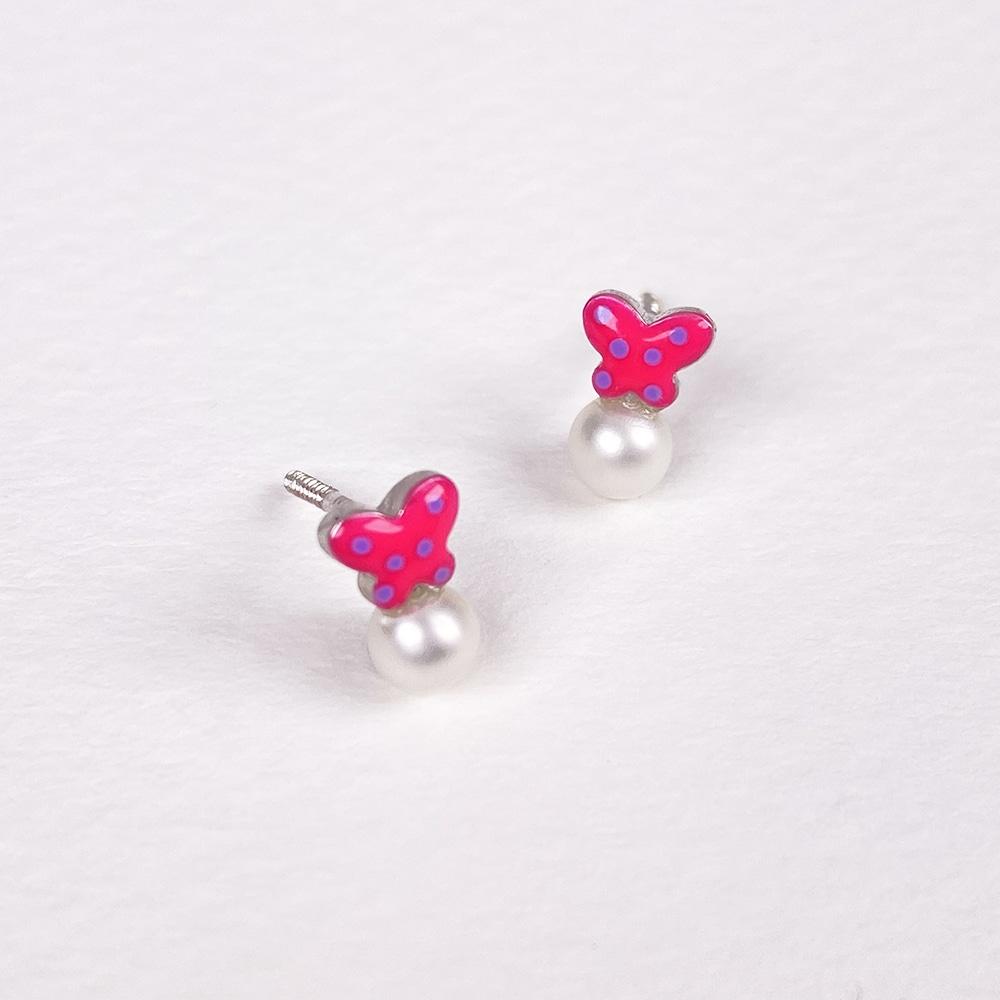 Children's Silver Butterfly Earrings