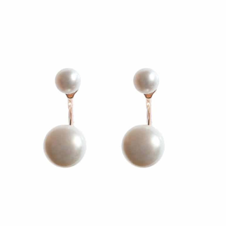 Reef Two Pearl Earrings