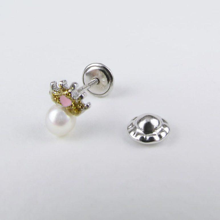 Children's Silver Crown Earrings