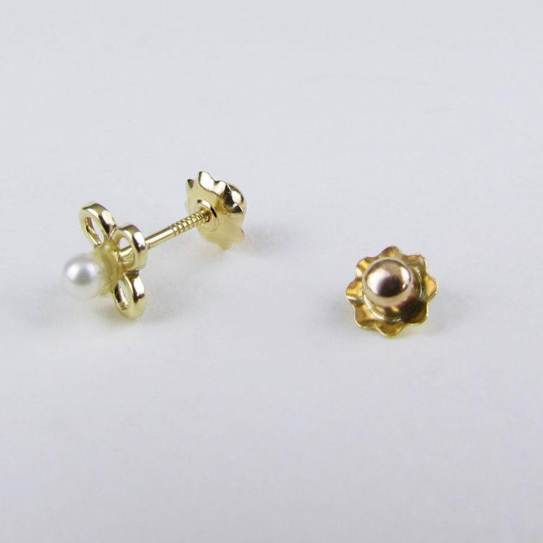Children's 9ct Gold Flower Earrings