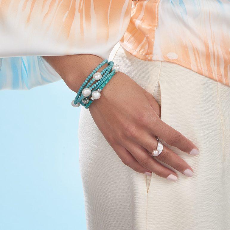 Turquoise Bahia Pearl Bracelet
