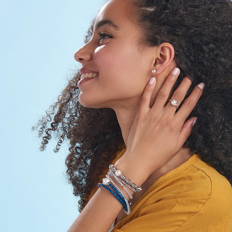 Grey Luna Tassel Bracelet