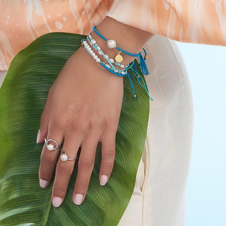 Teal Joy Pearl Bracelet