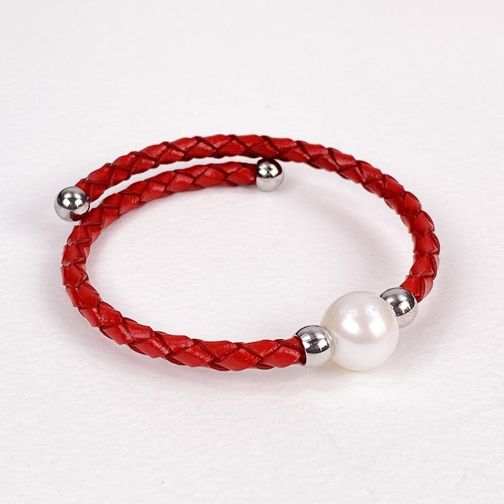Burgundy Bahia Pearl Bracelet