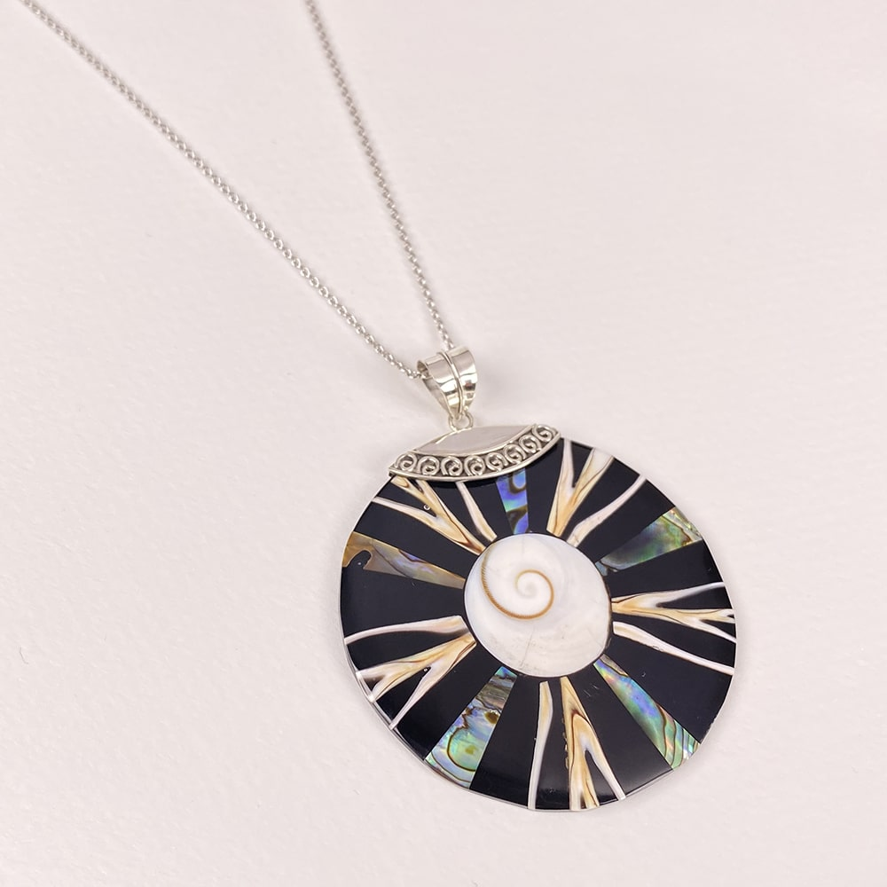 Bali Mother of Pearl and Shell Pendant