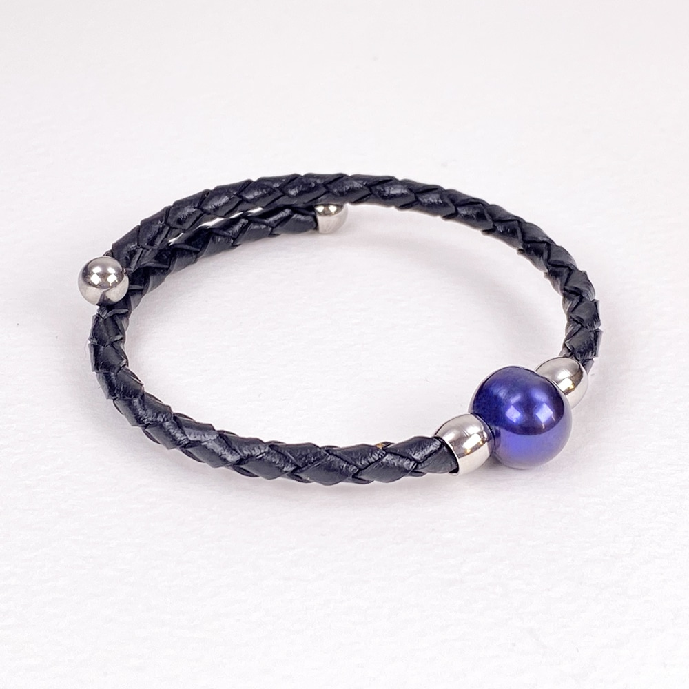 Black Bahia Bracelet with Peacock Pearl