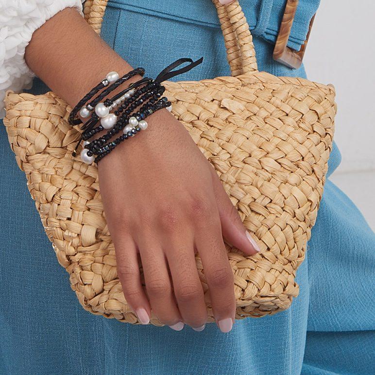 Black Rita Pearl Bracelet