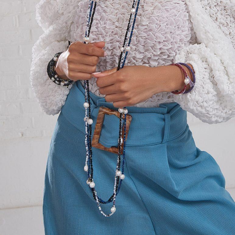 Violet Rita Pearl Bracelet