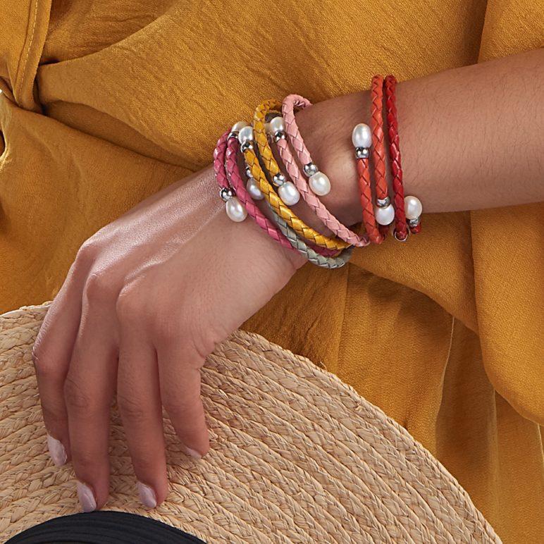Red Rita Pearl Bracelet