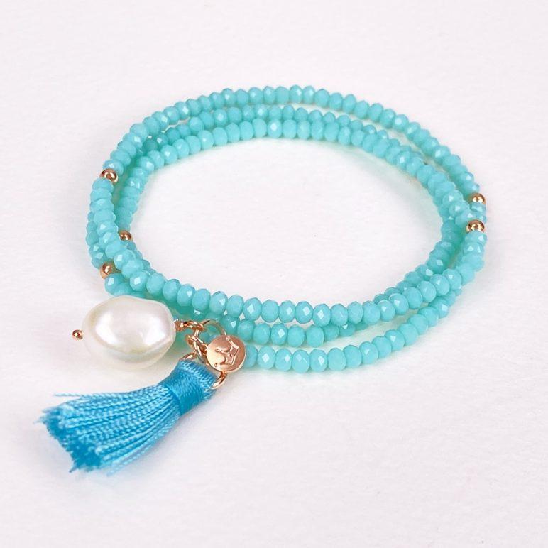 Turquoise Luna Tassel Bracelet