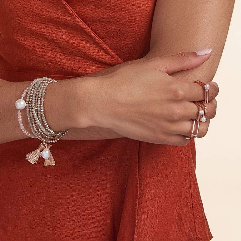 Gold Luna Tassel Bracelet