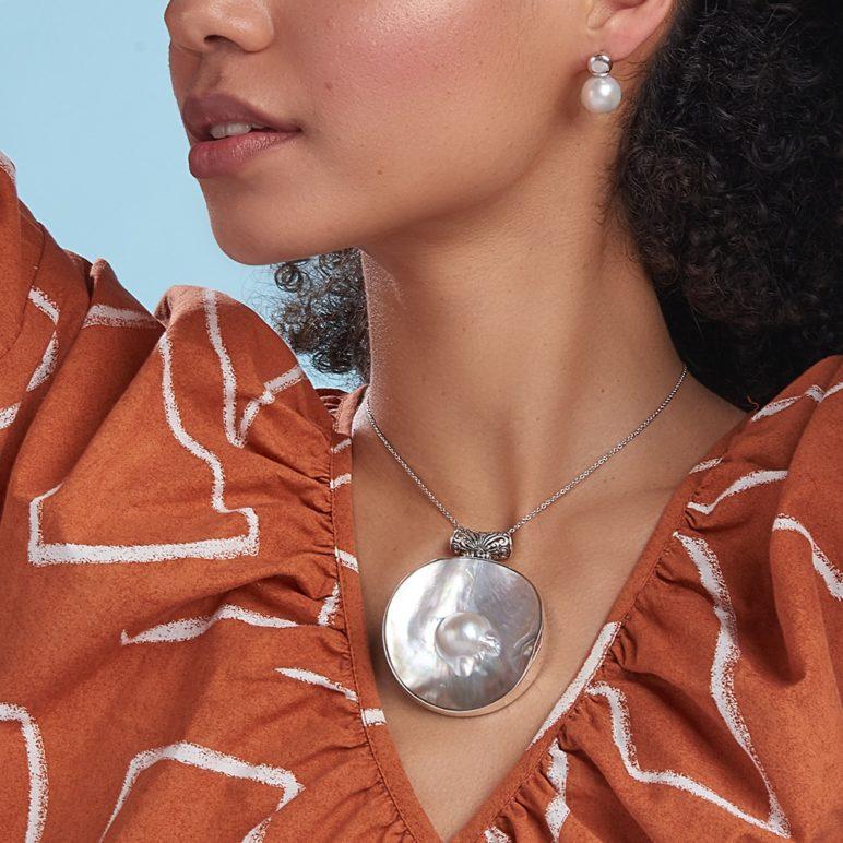 Alisio Edison Pearl Stud Earrings