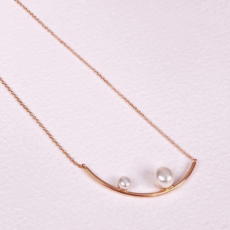 Reef Double Pearl Necklace
