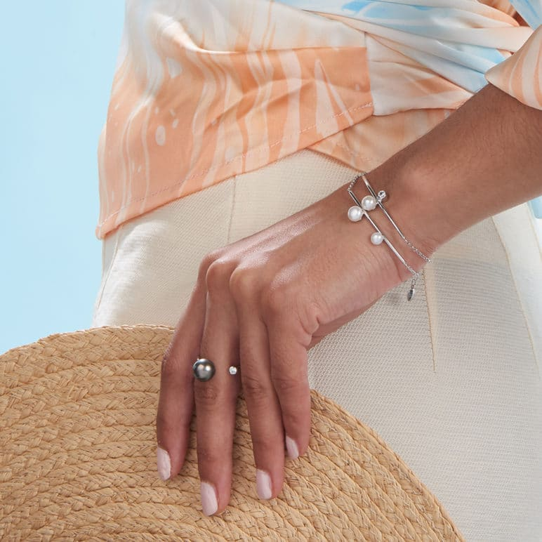 Reef Double Pearl Bracelet