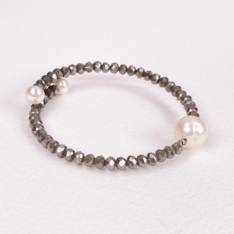 Grey Bahia Crystal Bracelet