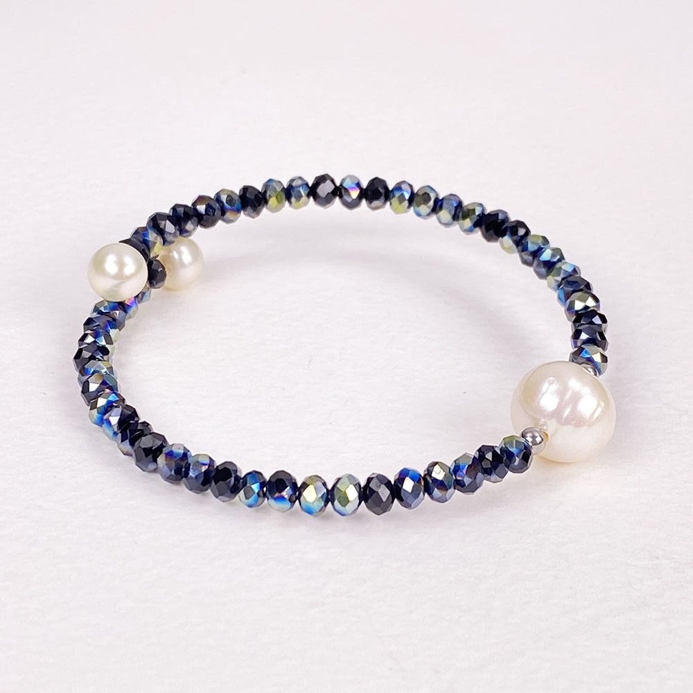 Navy Bahia Crystal Bracelet