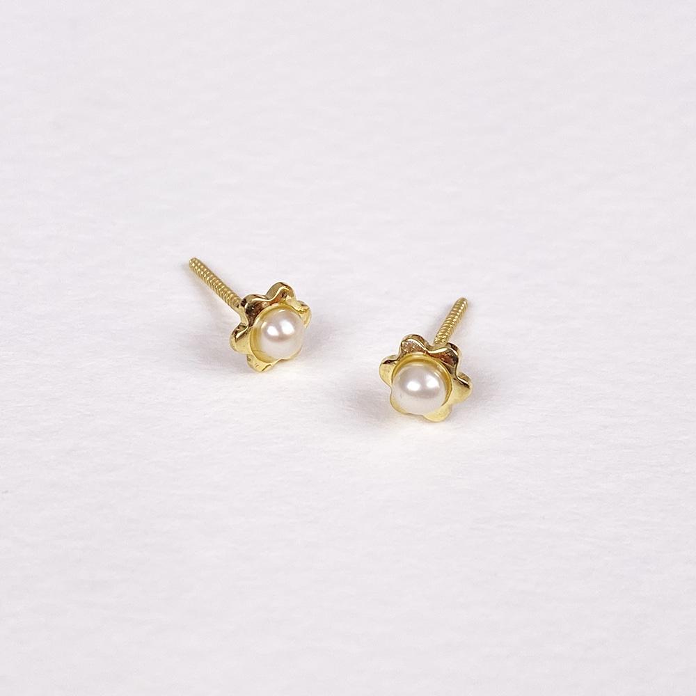 Children's 9ct Gold Sun Earrings