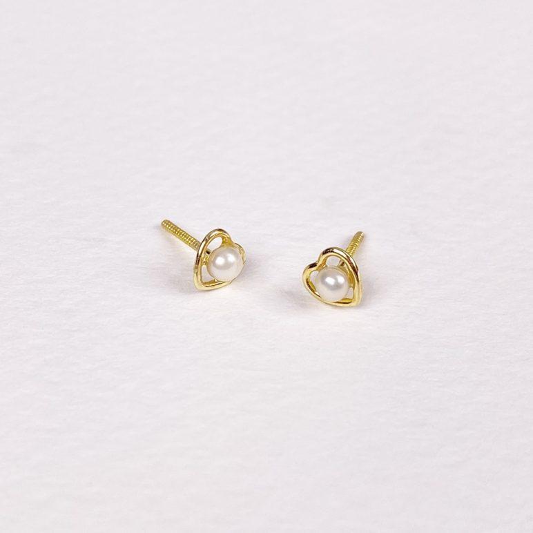 Children's 9ct Gold Heart Earrings