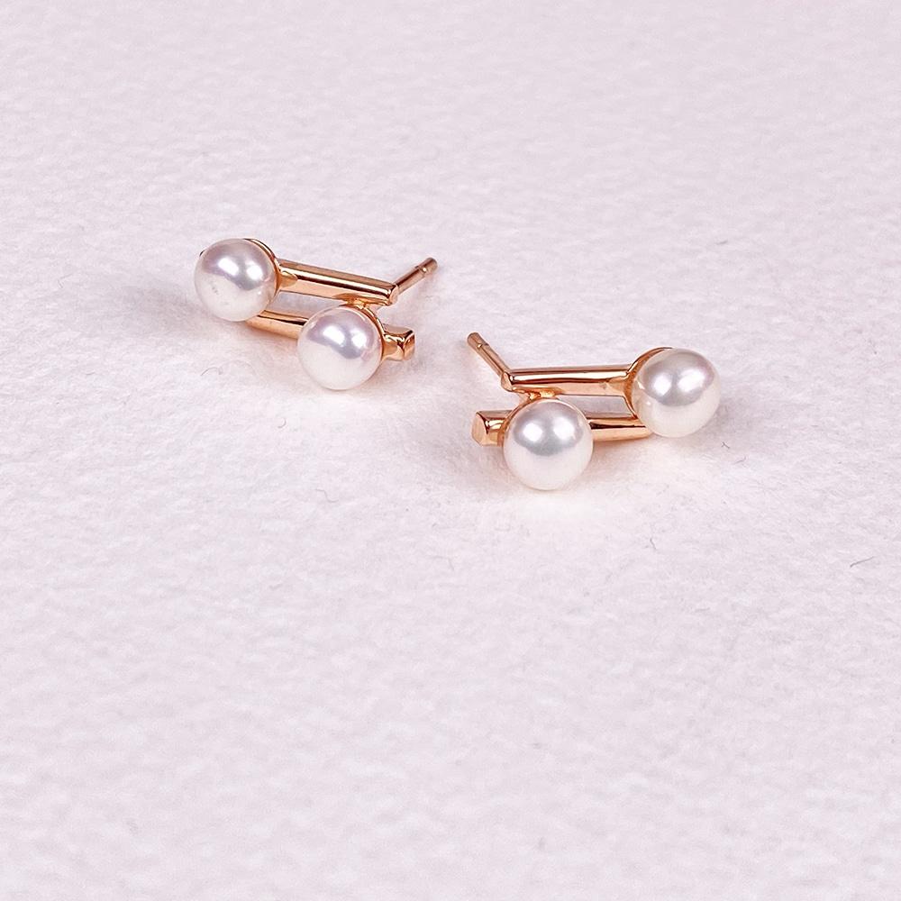 Cala Two Pearl Earrings