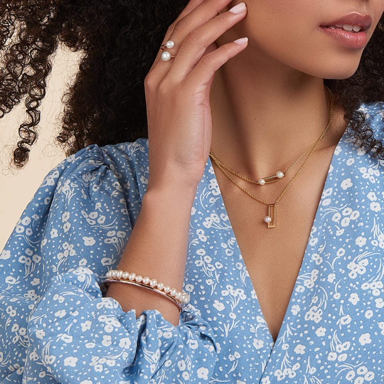 Cala Two Pearl Necklace