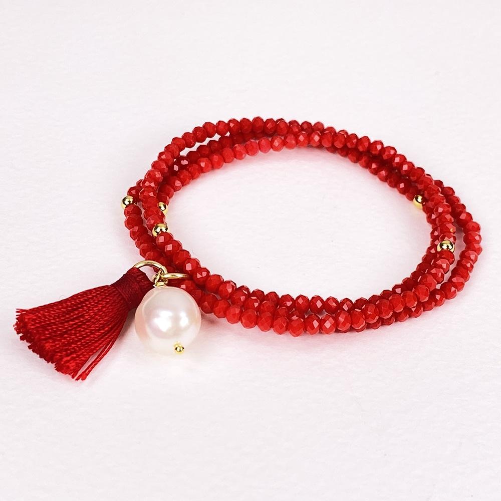 Luna Strass Tassel Bracelet