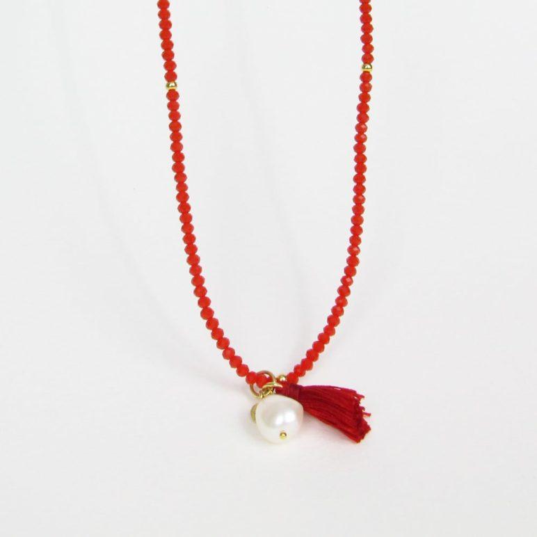 Red Luna Tassel Bracelet