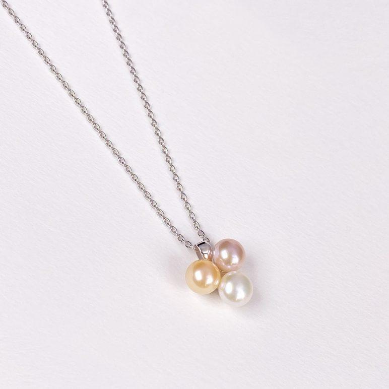 Esencia Triple Pearl Pendant