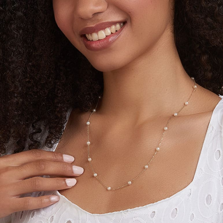 Desire 9ct Gold Pearl Necklace