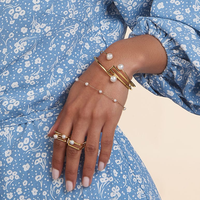 Desire 9ct Gold Pearl Bracelet