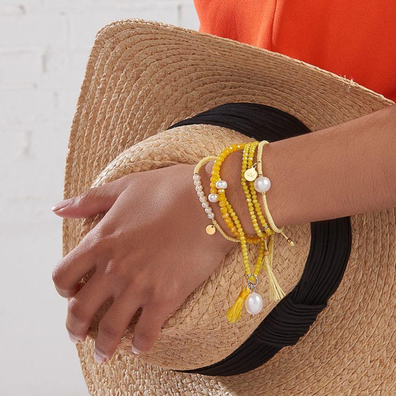 Yellow Joy Pearl Bracelet