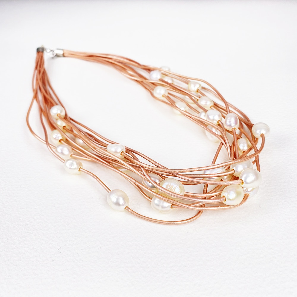 Pink Calima Multi-Pearl Necklace