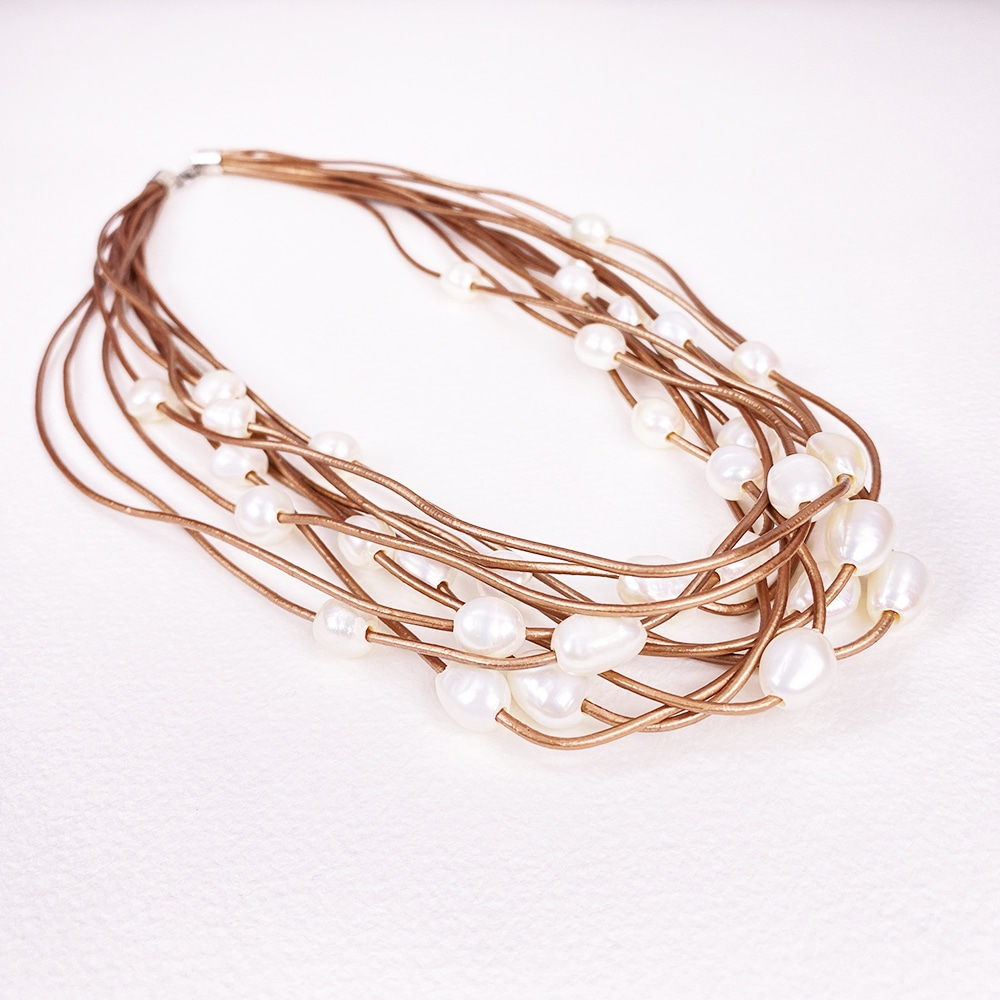 Gold Calima Multi-Pearl Necklace