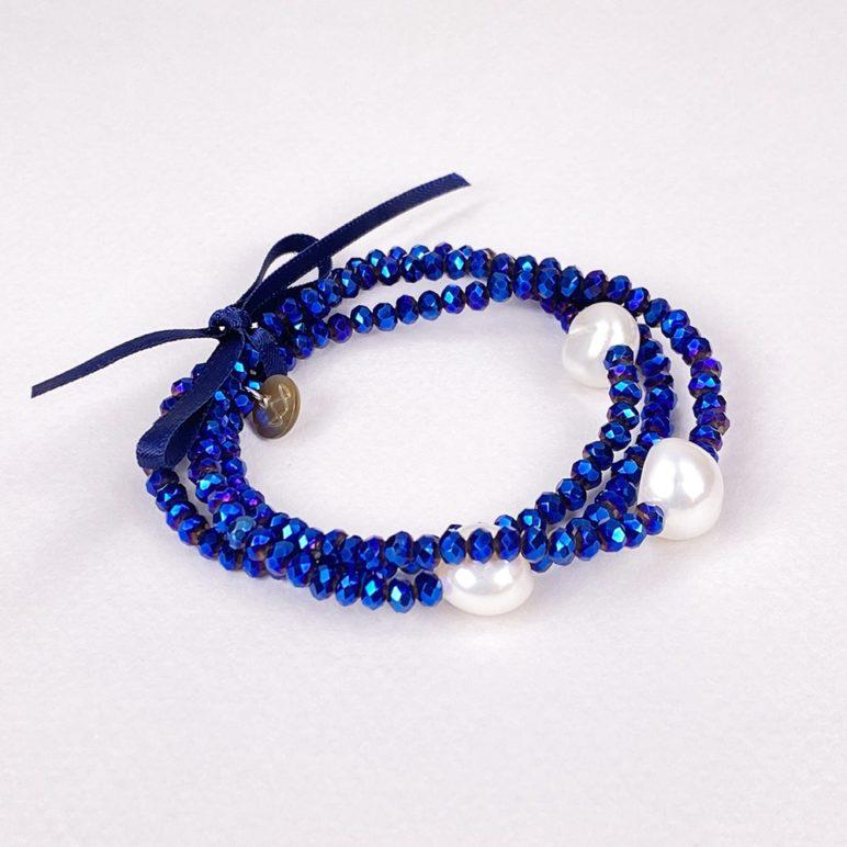 Luna Crystal Triple Bracelet
