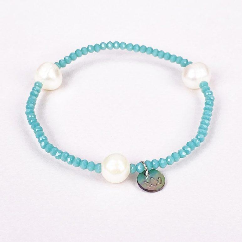 Turquoise Luna Crystal Bracelet